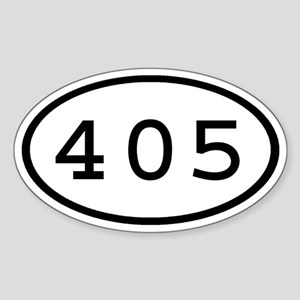 405 Oval Oval Sticker