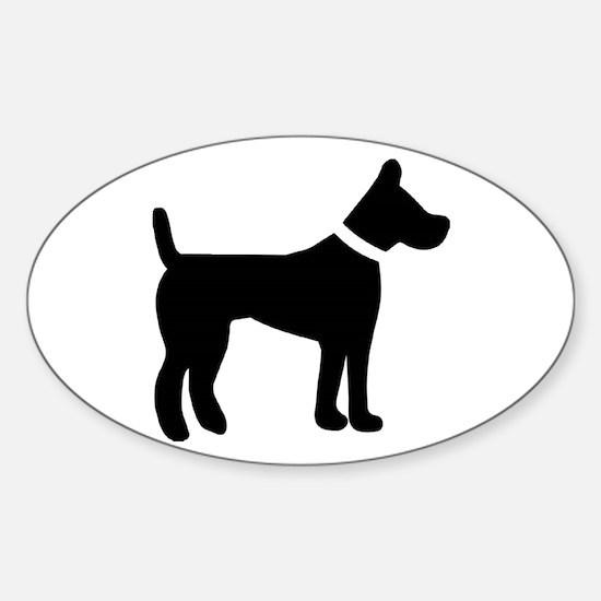 dog black 1C Decal