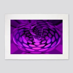 Purple Abstract for Pain Awareness 5'x7'Area Rug