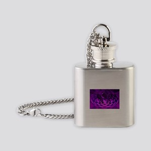 Purple Abstract for Pain Awareness Flask Necklace
