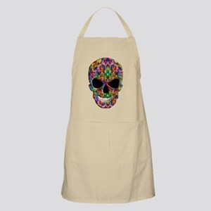 Colorful Fire Skull Apron