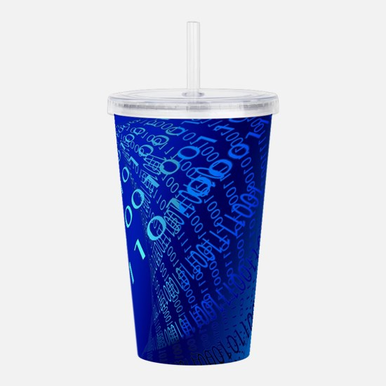 Beautiful Blue Binary Code Acrylic Double-wall Tum