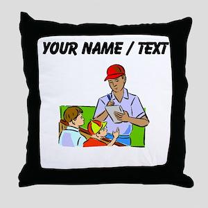 Custom Signing Autographs Throw Pillow