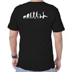 Evolution Of Capoeira Men's Fitted T-Shirt (da