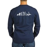 Evolution Of Capoeira Dark Long Sleeve T-Shirt
