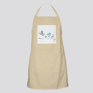 bunny with blue flowers Apron