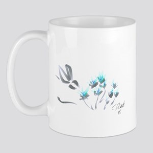 bunny with blue flowers Mug