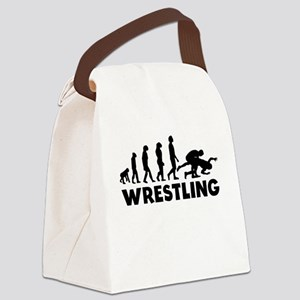 Wrestling Evolution Canvas Lunch Bag