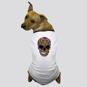Colorful Fire Skull Dog T-Shirt