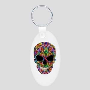 Colorful Fire Skull Keychains
