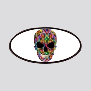 Colorful Fire Skull Patches
