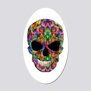 Colorful Fire Skull Wall Decal