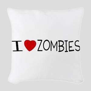 zombie merchandise Woven Throw Pillow