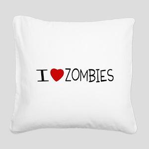 zombie merchandise Square Canvas Pillow