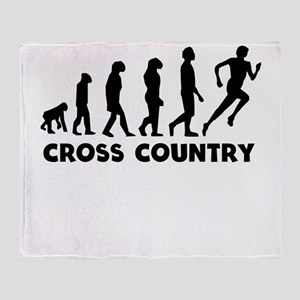 Cross Country Evolution Throw Blanket