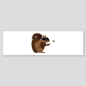 Masked Squirrel Bumper Sticker