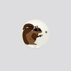 Masked Squirrel Mini Button