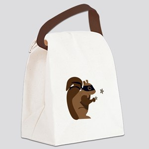 Masked Squirrel Canvas Lunch Bag