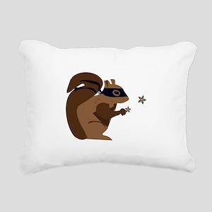 Masked Squirrel Rectangular Canvas Pillow