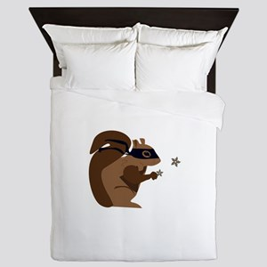 Masked Squirrel Queen Duvet