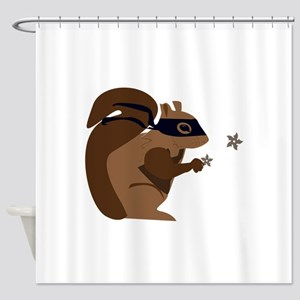 Masked Squirrel Shower Curtain