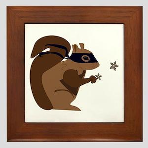 Masked Squirrel Framed Tile