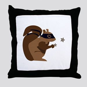 Masked Squirrel Throw Pillow