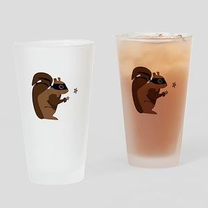 Masked Squirrel Drinking Glass