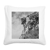New hampshires old man of the mountain Square Canvas Pillows