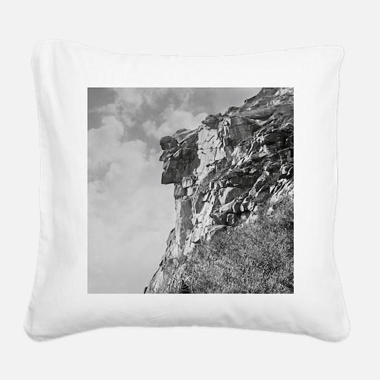 Unique Cadillac mountain Square Canvas Pillow