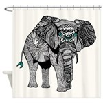 One Tribal Elephant Shower Curtain