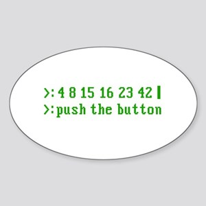 push the button Oval Sticker