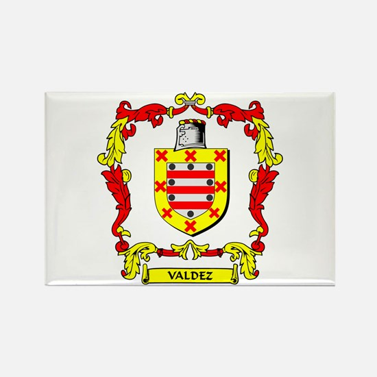 VALDEZ Coat of Arms Rectangle Magnet