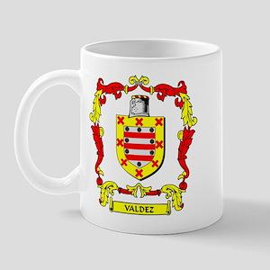 VALDEZ Coat of Arms Mug