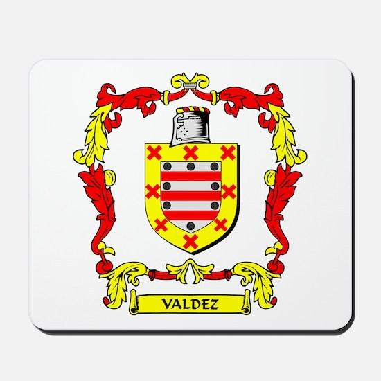 VALDEZ Coat of Arms Mousepad