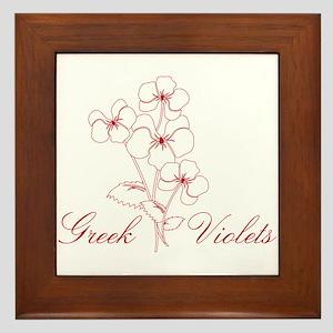 Greek Violets Framed Tile