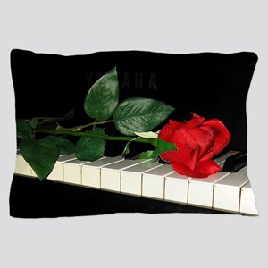 Rose on Piano 2 Pillow Case