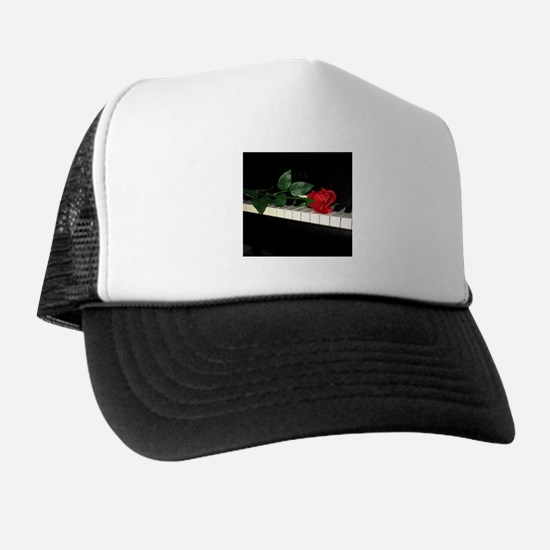 Rose on Piano 2 Trucker Hat