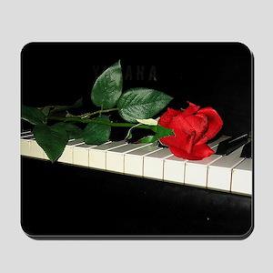 Rose on Piano 2 Mousepad