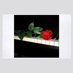 Rose on Piano 2 4' x 6' Rug