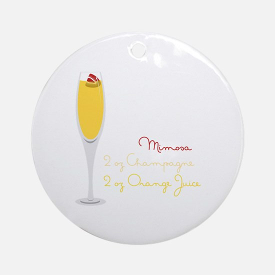 Mimosa Recipe Ornament (Round)