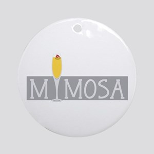 Mimosa Sign Ornament (Round)