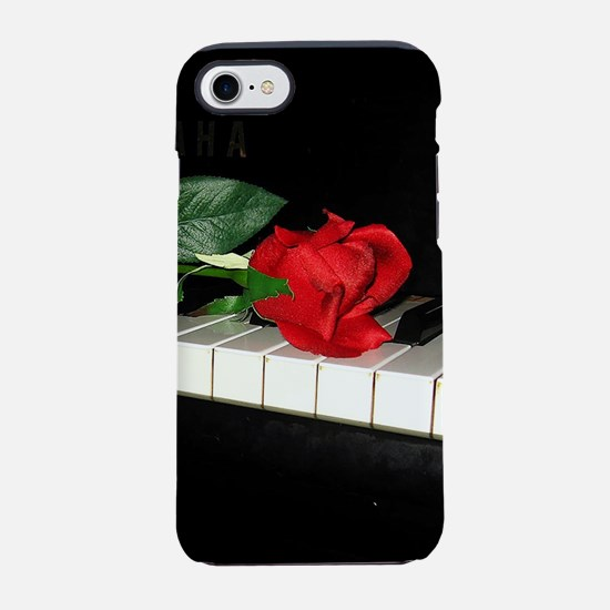 Rose on Piano 2 iPhone 7 Tough Case