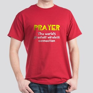 Prayer wireless connection Dark T-Shirt
