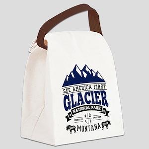 Glacier Vintage Canvas Lunch Bag
