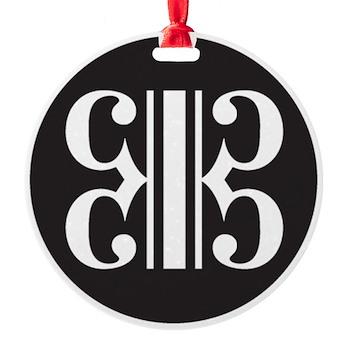 Double Alto Clef Round Ornament