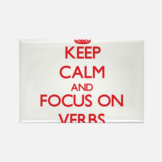 Keep Calm and focus on Verbs Magnets