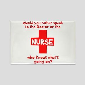 Nurse knows Rectangle Magnet