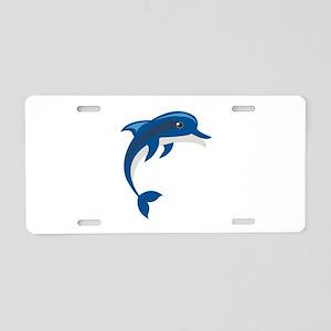 Dolphin Aluminum License Plate