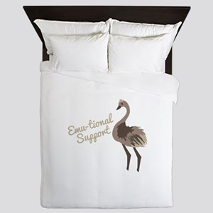 Emu-tional Support Queen Duvet
